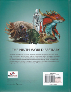 Ninth World Bestiary Back Cover