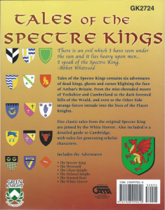 Tales of the Spectre King Back Cover