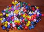 pile of dice